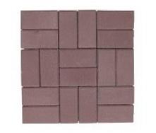 Тротуарная плитка ЭКО Кирпич 200х100х60 мм коричневая