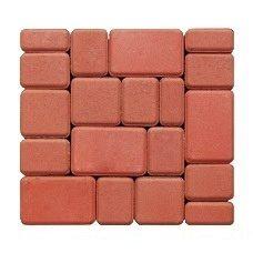 Тротуарна плитка ЕКО Старе місто 180х120х25 мм червона