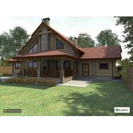 Проект дерев'яного будинку 350 м2