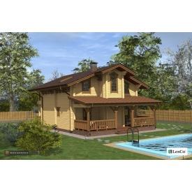 Проект дерев'яного будинку Lesco 175,51 м2