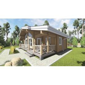 Проект деревянного дома Леско 80 м2