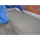 Устройство полусухой цементно-песчаной стяжки