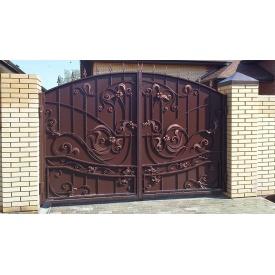 Кованые ворота уличные распашные