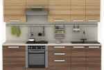 Прямі кухонні гарнітури