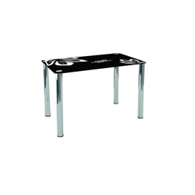 Скляний стіл Концепт Сентензо 900х600х750 мм чорний