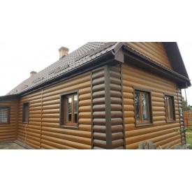 Блок хаус металлический 0,42 мм