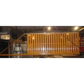 Ворота откатные из штакетника оранжевые