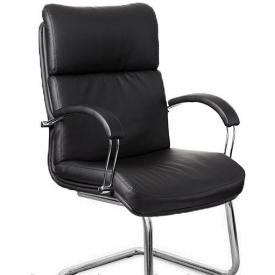 Конференц кресло Дакота-CF Richman 1080х650х700 мм черное на полозьях Хром