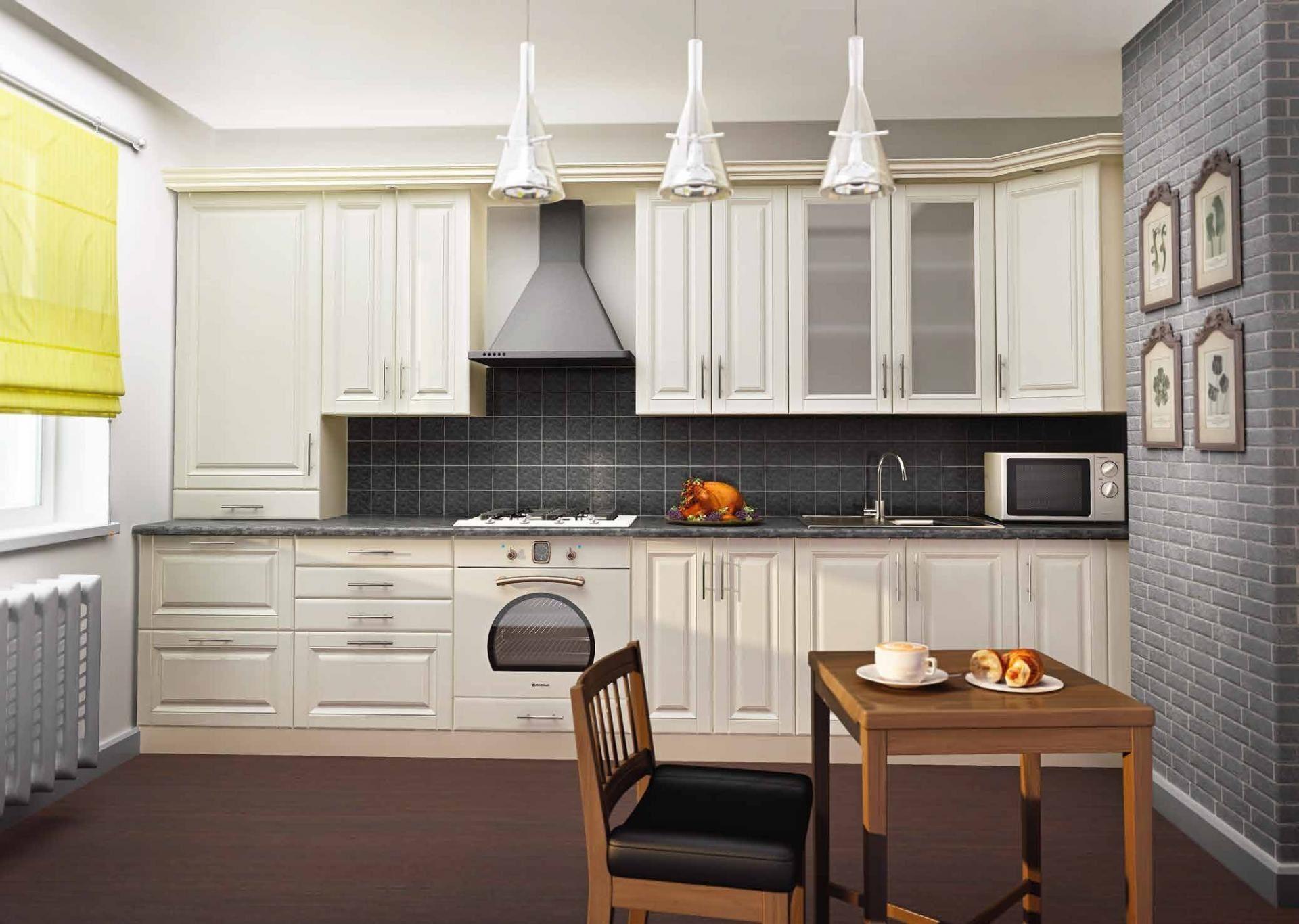 Светлая кухня заказная - вариант 004