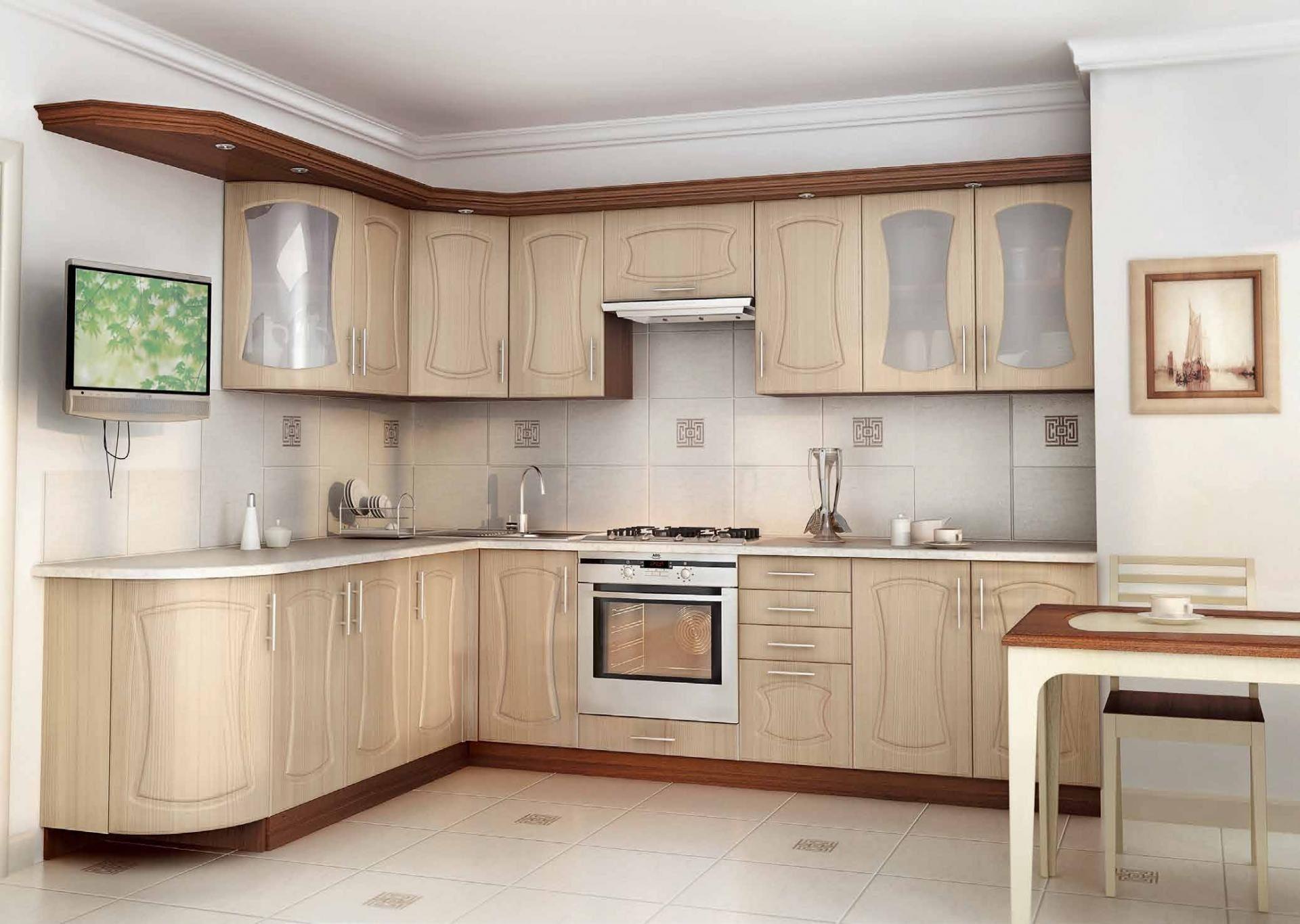 Угловая заказная кухня мдф фрезеровка - вариант -17