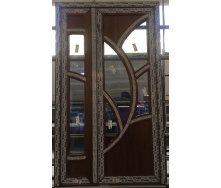 Двері металопластикові 1250х2150 мм золотий дуб