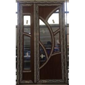 Двери металлопластиковые 1250х2150 мм золотой дуб