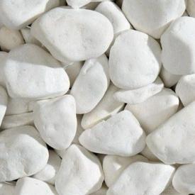 Галька мраморная Thassos White 80-120 мм белоснежная