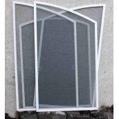 Москитная сетка из алюминиевого профиля для пластикового окна белая