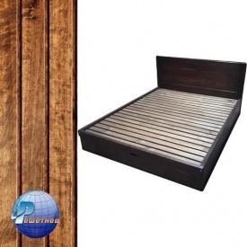 Двоспальне ліжко Гармонія з масиву сосни