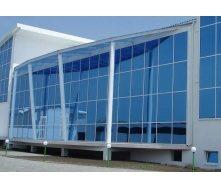 Стеклянный алюминиевый фасад из теплого алюминия 100 м2