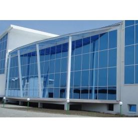 Скляний алюмінієвий фасад з теплого алюмінію 100 м2