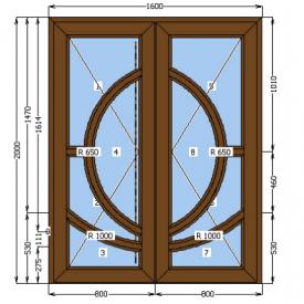 Двери металлопластиковые входные 1600x2000 см