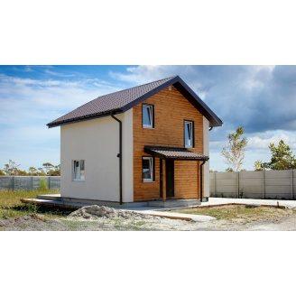 Строительство двухэтажного дома - домокомплект ЭНЕРГОДОМ Оптимальный