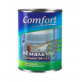 Эмаль Comfort ПФ-115 0,9 кг красно-коричневая