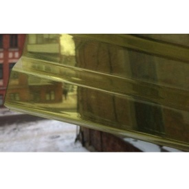 Профилированный ПВХ Renolit Ondex 3х1,095 м желтый