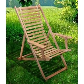 Шезлонг-стілець Пікнік 1230 мм натуральний бук