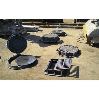 Люк чугунный канализационный средний С-Б 760 мм