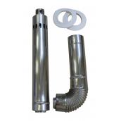 Коаксіальний димохід 60/100 мм до котла LEBERG Flamme