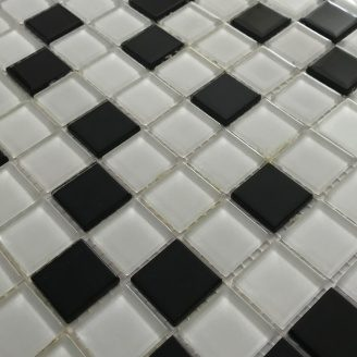 Скляна мозаїка Керамік Полісся Неро Мікс 300х300х4 мм