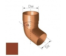 Колено Gamrat 67,5° 90 мм кирпичное