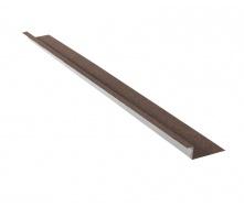 Планка бокового примыкания QueenTile 2 м brown
