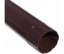Водосточная труба Акведук Премиум 87 мм 3 м коричневый RAL 8017