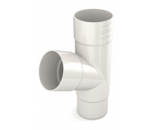 Тройник трубы Bryza 100 245х90,2х90,2х84,5 мм белый