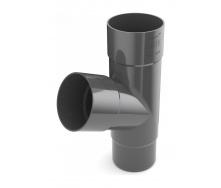 Тройник трубы Bryza 100 245х90,2х90,2х84,5 мм графит