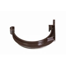 Держатель желоба FITT пластиковый 125 мм коричневый