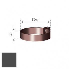 Хомут водостічної труби Gamrat 90 мм графітовий