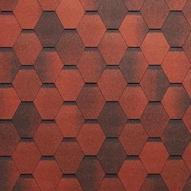 Бітумна черепиця Tegola Super Mosaic 1000х337 мм червоний граніт
