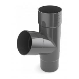 Трійник труби Bryza 100 245х90,2х90,2х84,5 мм графіт