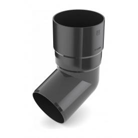 Коліно труби Bryza 150 67 градусів 110,4х218х104,5 мм графіт