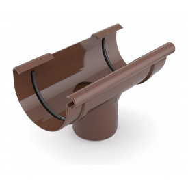 Лійка ринви зливна Bryza 75 160х63 мм коричневий