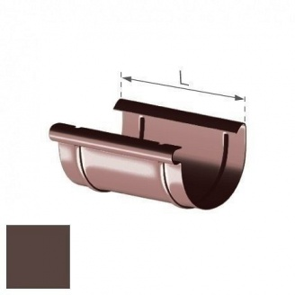 Муфта желоба Gamrat 100 мм коричневая