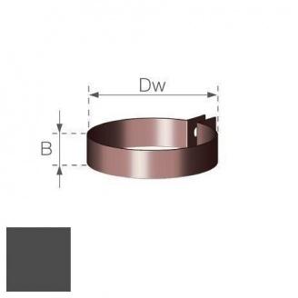 Хомут водосточной труби Gamrat 90 мм графитовый