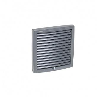 Зовнішня вентиляційна решітка VILPE 150х150 мм сіра