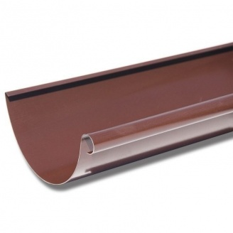 Желоб Акведук Премиум 125 мм 2 м коричневый RAL 8017