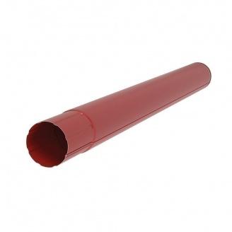 Водосточная труба Акведук Премиум 87 мм 1 м темно-красный RAL 3009
