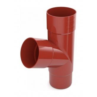 Тройник трубы Bryza 100 245х90,2х90,2х84,5 мм красный