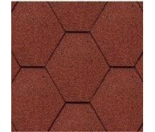 Битумная черепица Kerabit K Тройка однотонная красная