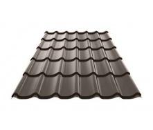 Металлочерепица Ruukki Monterrey Polyester Matt 0,5 мм темно-коричневый
