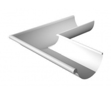 Угол желоба внешний Ruukki 90 градусов 125 мм белый
