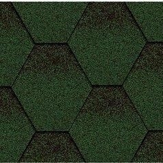 Битумная черепица Kerabit K Тройка зелено-черный